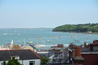 View from top floor of Cowes House